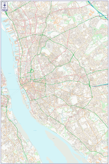 City Street Map - Central Liverpool - Colour - Overview