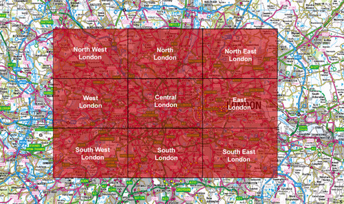 London Full Series City Street Map - Digital Download - Special Offer