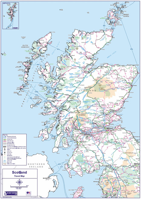 Travel Map 2 - Scotland - Colour - Overview