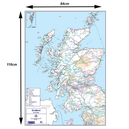 Travel Map 2 - Scotland - Colour - Dimensions