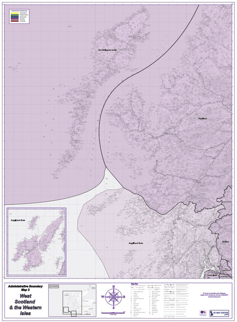 Admin Boundary Map 2 - Western Scotland & The Western Isles - Overview