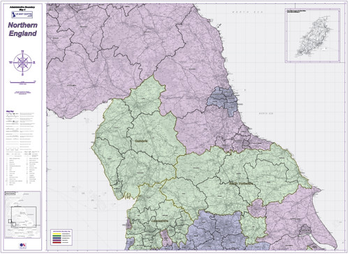 Admin Boundary Map 4 - Northern England - Overview