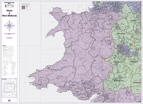 Admin Boundary Map 6 - Wales & West Midlands - Overview