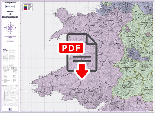 Admin Boundary Map 6 - Wales & West Midlands