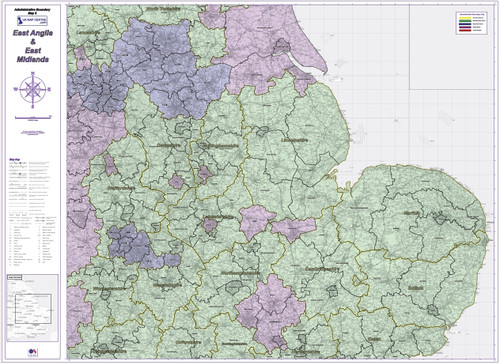 Admin Boundary Map 5 - East Midlands & East Anglia - Overview