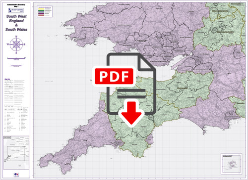 Admin Boundary Map 7 - South West England & South Wales