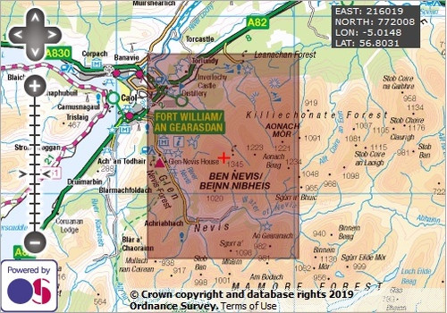 Ben Nevis- OS Walking Map Download