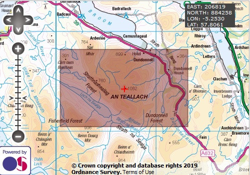 Bidein a' Ghlas Thuill - OS Walking Map Download