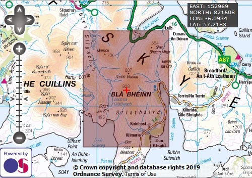 Bla Bheinn - OS Walking Map Download