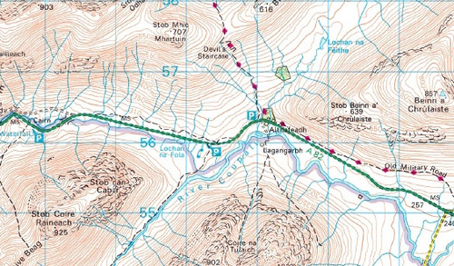 Buachaille Etive Mor - OS Walking Map Download