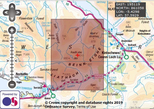Ruadh-stac-Mor (Beinn Eighe) - OS Walking Map Download