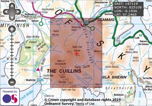 Sgurr nan Gillean - OS Walking Map Download