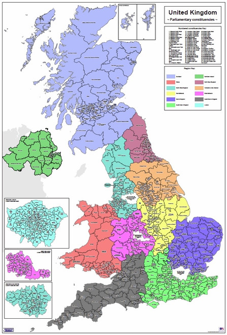 Regional UK Parliamentary Maps - Full UK Overview