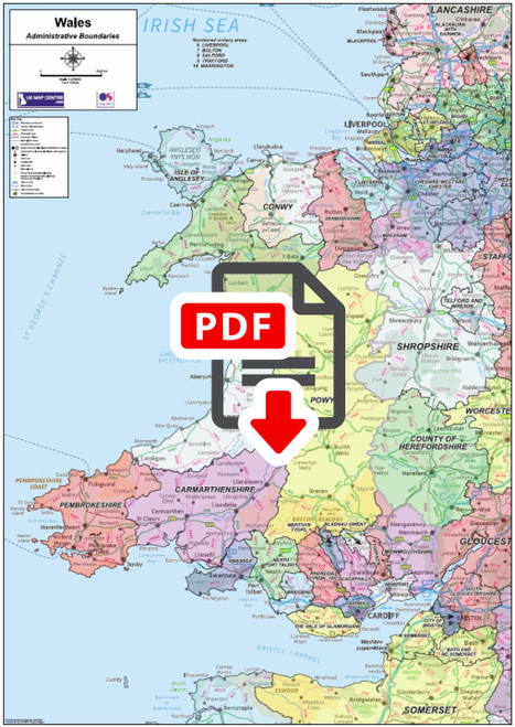 National Admin Map 5 - Wales