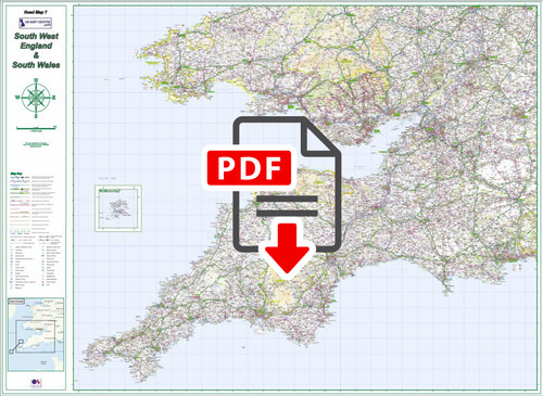 Road Map 7 - South West England and South Wales - Digital Download