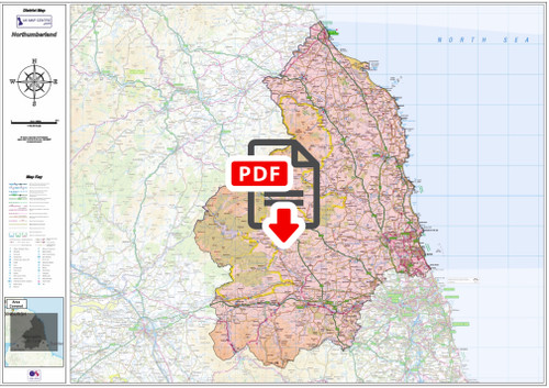 Northumberland County Map - Digital Download