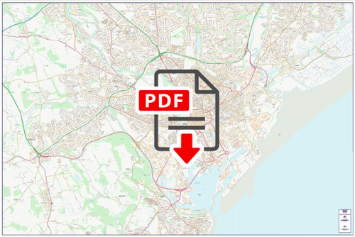 Central Cardiff City Street Map - Digital Download