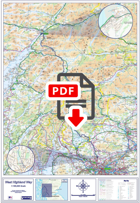 West Highland Way Compact Route Map - Digital Download