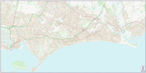 Central Bournemouth City Street Map
