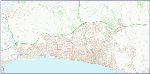 Central Brighton and Hove City Street Map