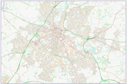 Central Derby City Street Map