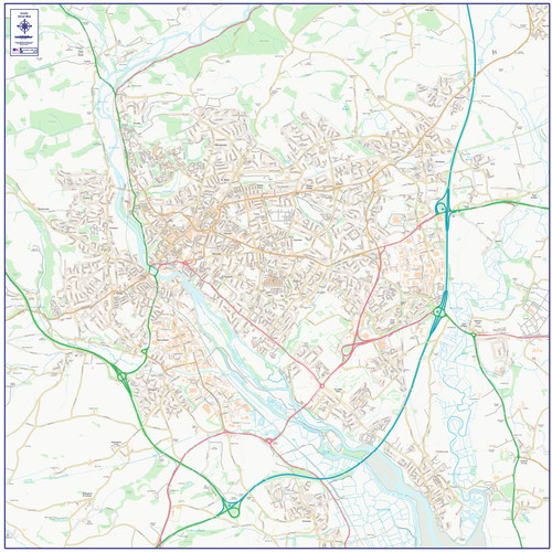 Exeter Street Map - Overview