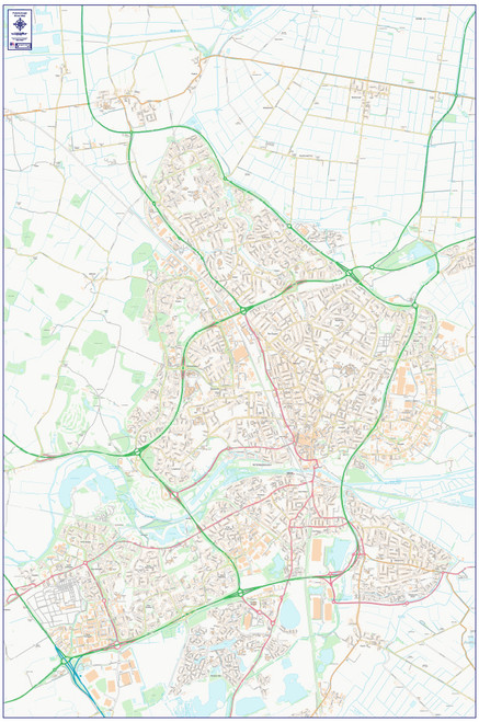 Central Peterborough City Street Map
