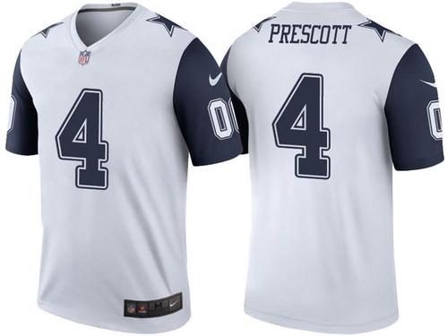 ad09e7cc1 Color Rush Legend Dak Prescott  4 Dallas Cowboys White Jersey
