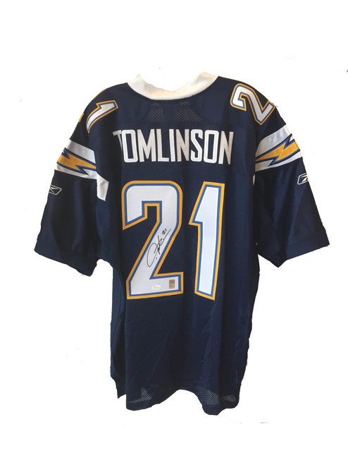 91c625308 Authentic LaDainian Tomlinson San Diego Chargers Autographed Reebok Navy  Sewn Jersey