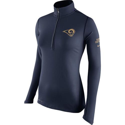 Los Angeles Rams Nike Women s Tailgate Element Half-Zip Performance Jacket  - Navy b2412c78e