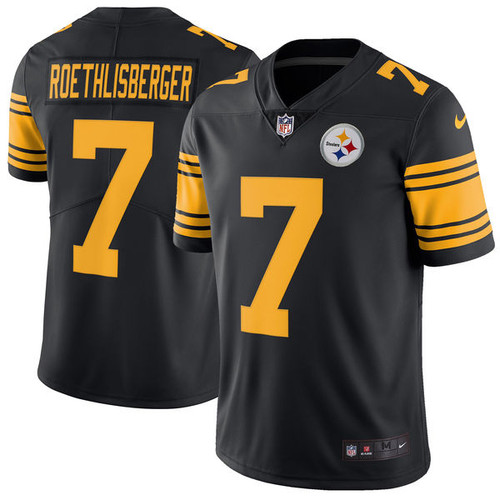 a772bfaaa4b Men s Pittsburgh Steelers Ben Roethlisberger Nike Color Rush Legend Jersey