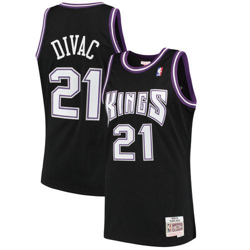 a3fb24476 Men s Sacramento Kings Vlade Divac Mitchell   Ness Black 2000-01 Hardwood  Classics Swingman Jersey