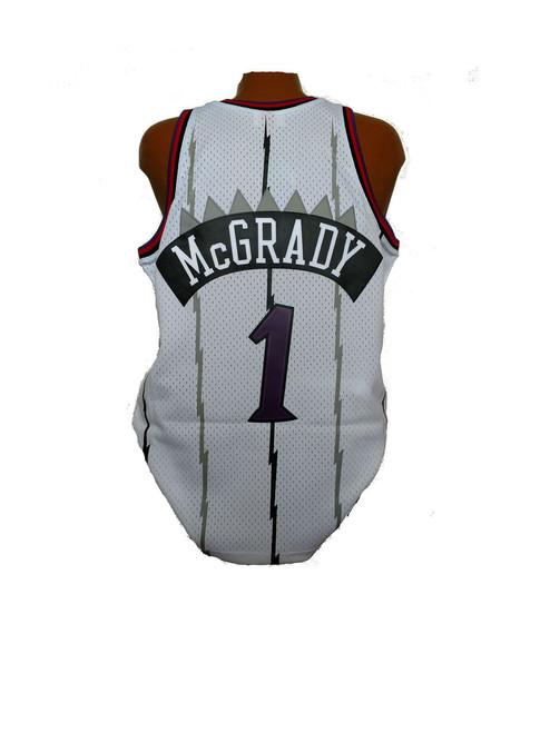 5d44b6152c01 Men s Toronto Raptors Tracy McGrady Mitchell   Ness Home White 1998-99  Hardwood Classics Swingman Jersey