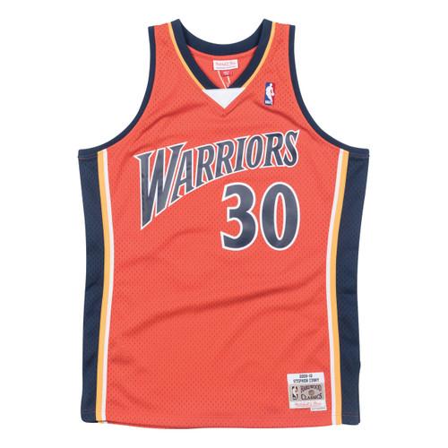Mitchell   Ness Stephen Curry Golden State Warriors Orange Swingman Jersey 97855a4fc