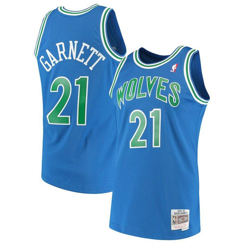 e696f8e53 KEVIN GARNETT MINNESOTA TIMBERWOLVES MITCHELL   NESS MEN S BLUE THROWBACK  SWINGMAN JERSEY