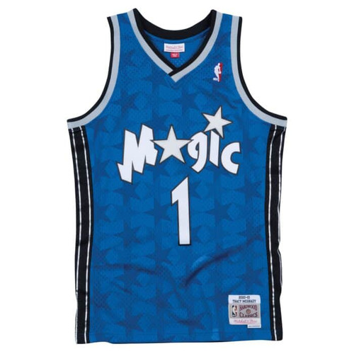 outlet store fabb1 1ae63 Orlando Magic Tracy McGrady Youth Mitchell & Ness Blue ...
