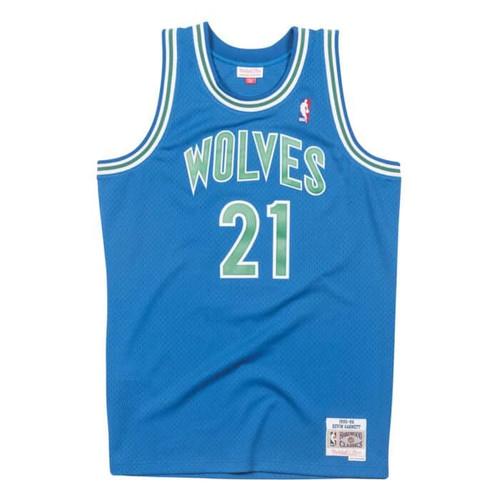 34d27475 Minnesota Timberwolves Kevin Garnett Youth Mitchell & Ness Blue Hardwood  Classics Jersey