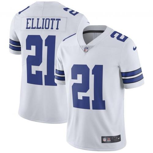 reputable site 9d2cc 80d44 Dallas Cowboys Ezekiel Elliott Men's Nike White Vapor ...