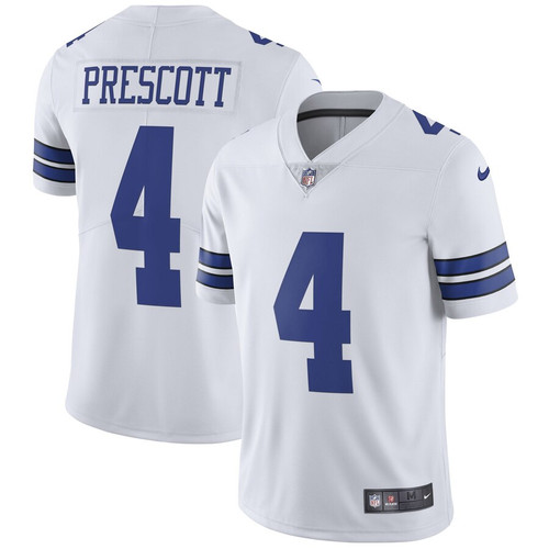 wholesale dealer dcd2b 02042 Dallas Cowboys Dak Prescott Men's Nike White Vapor ...