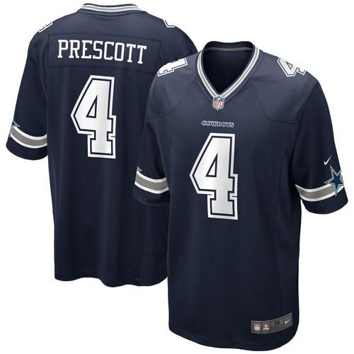 san francisco be7f4 869ab Men's Dallas Cowboys Dak Prescott Nike Navy Game Jersey ...
