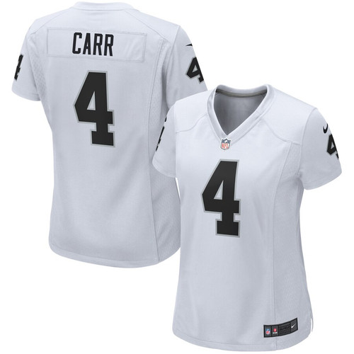 detailed look 761ec b3d99 Oakland Raiders Derek Carr Nike NFL Women's White Game Jersey