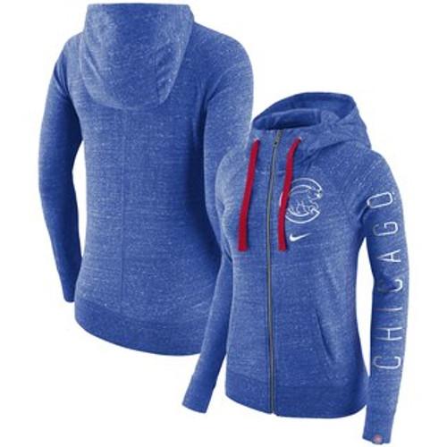 timeless design 0fe6e b07e8 Women's Chicago Cubs Nike Royal Vintage Full Zip Hoodie