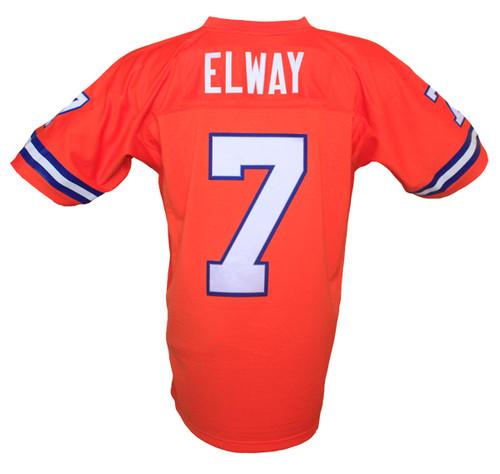super popular 293d1 822e1 Denver Broncos John Elway Mitchell & Ness Orange Throwback ...