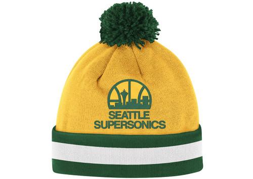 93b6a6f0833778 Seattle Supersonics Jersey Stripe Beanie by Mitchell & Ness