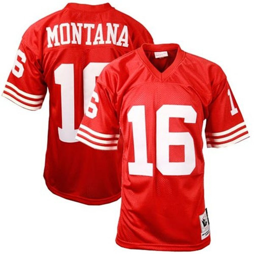 new style fa103 5fafb San Francisco 49ers Joe Montana Authentic Mitchell & Ness ...
