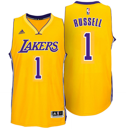 19643b3e D'Angelo Russell Los Angeles Lakers adidas Swingman Home Jersey