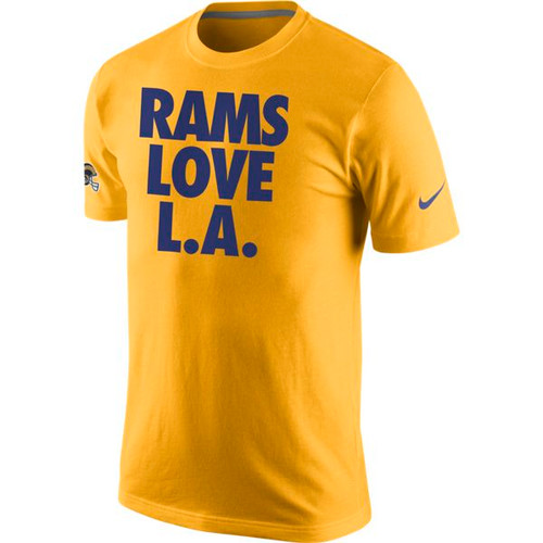 free shipping 76b84 4c8a8 Los Angeles Rams Love LA Nike T-Shirt