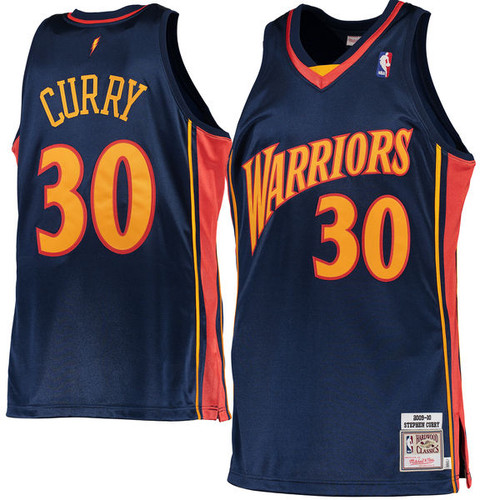 new style 58a46 d5058 Stephen Curry Golden State Warriors Mitchell & Ness 2009-10 ...