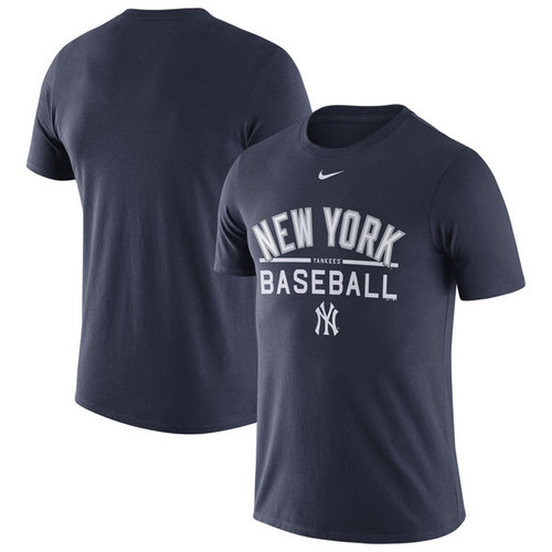 best service dde54 9a202 New York Yankees Nike Away Practice T-Shirt in Navy