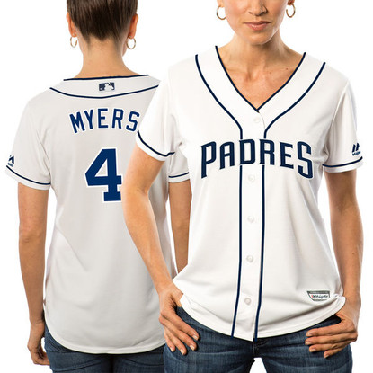 4f795dc19 Women's San Diego Padres Wil Myers Majestic White Alternate Cool Base  Player Jersey